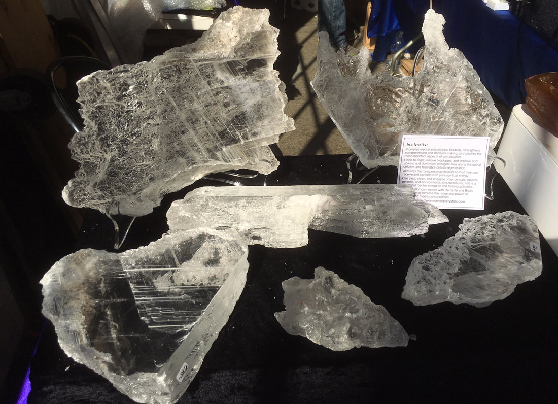 Selenite crystals from Brazil