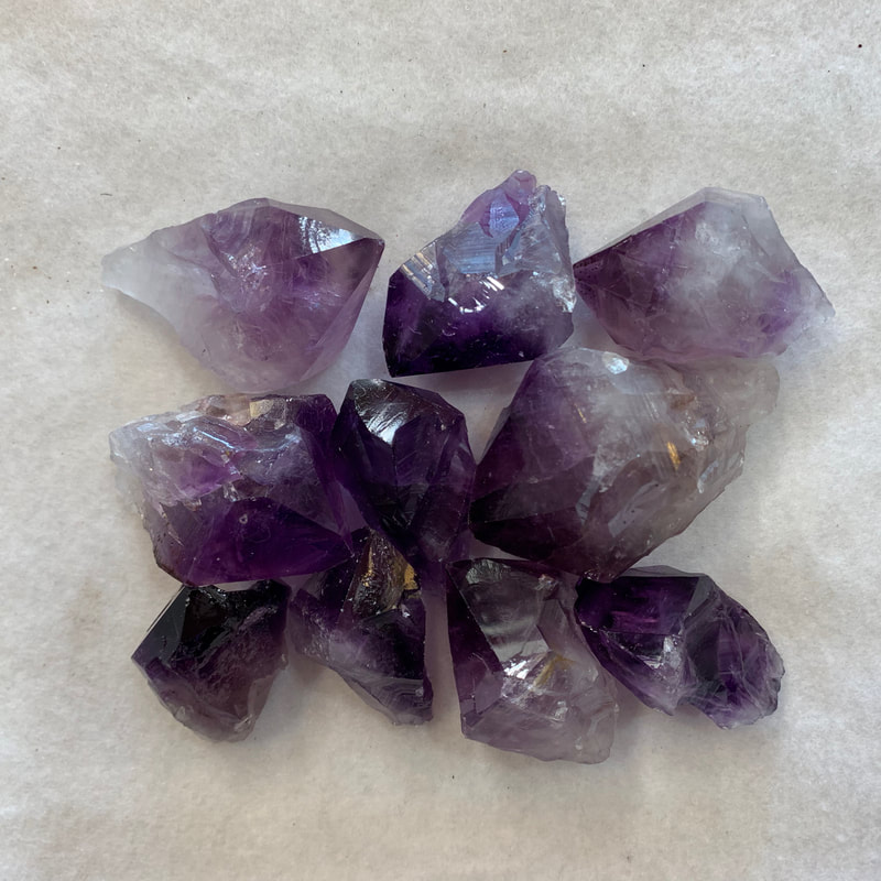 Premium Grade Medium Amethyst Crystals.