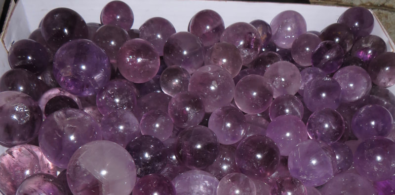 Purple Amethyst Spheres.