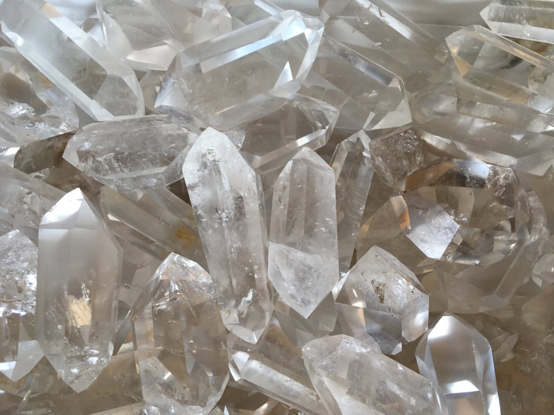 Lemurian Seed Crystals double terminated, premium polished, small and medium