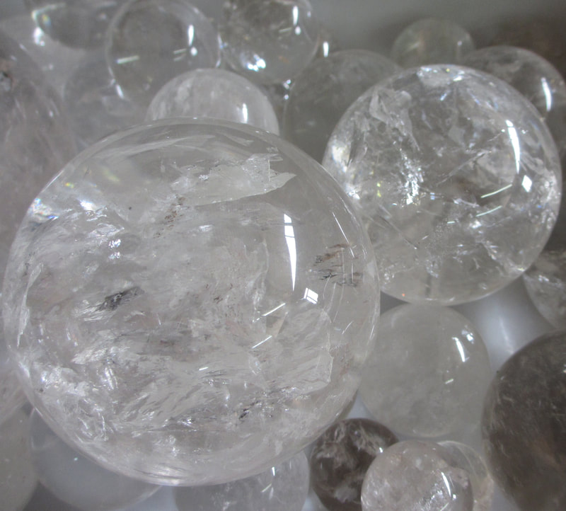 Lemurian Seed Crystal Spheres premium polished, medium and large