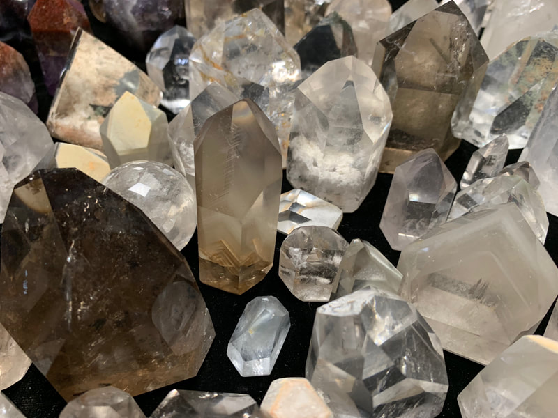 Phantom Quartz Premium polished, small, medium, and large size
