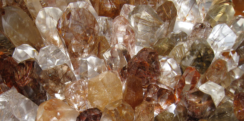 Rutilated Quartz Polished Points extra premium quality