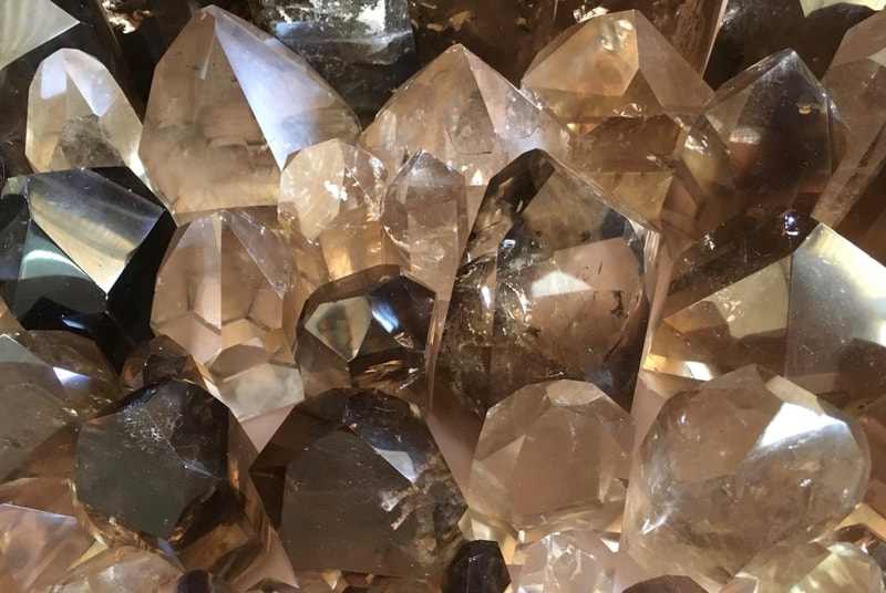 Smoky Quartz Polished Points, premium quality, mixed size