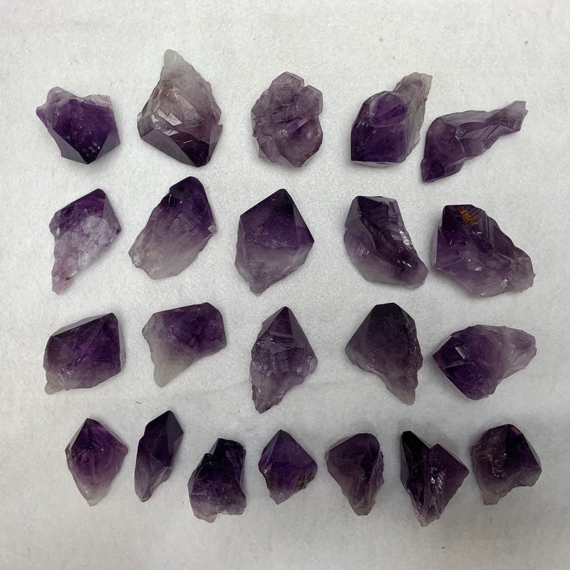 Medium Premium Quality Amethyst Crystals.